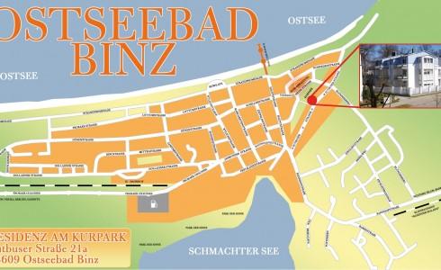 Stadtplan Binz